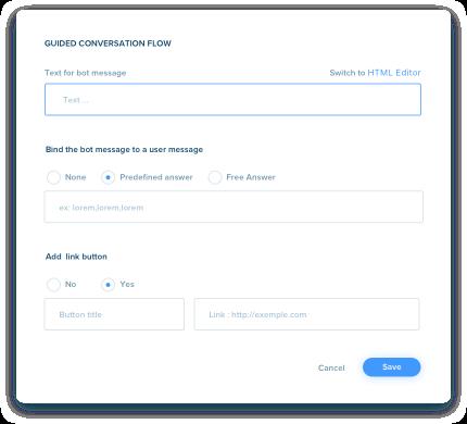 Dashboard conversationnal flow